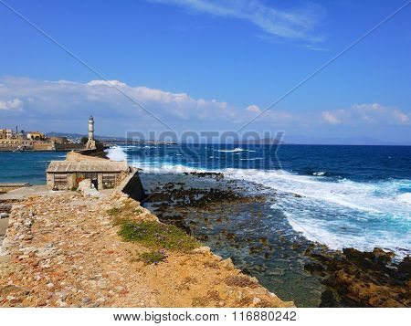 Lighthouse In The Chania