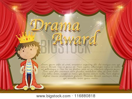 Certificate template with stag background illustration