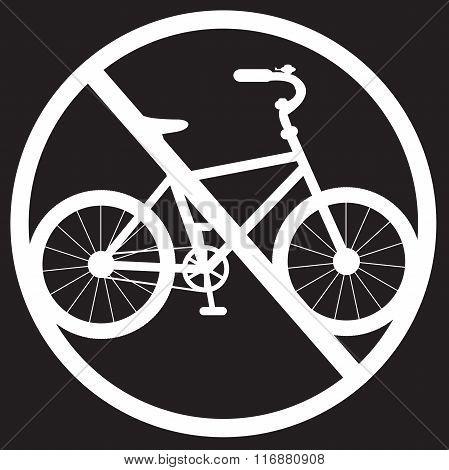 Stencil Bike Prohibited