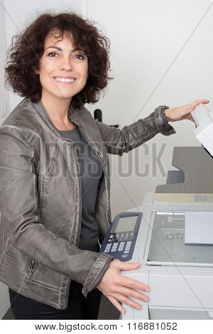 Woman Casual Portrait In Positive View, Big Smile