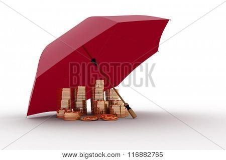 Umbrella and money. Protection of finance