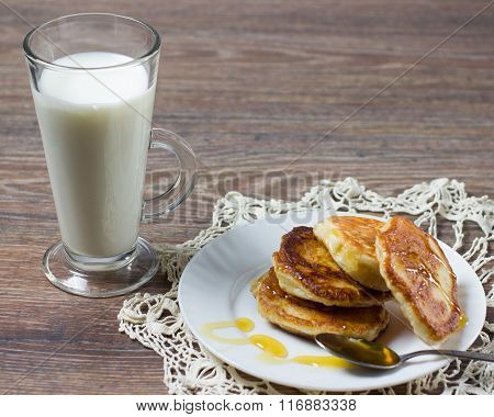 Pancakes And A Cup Of Milk