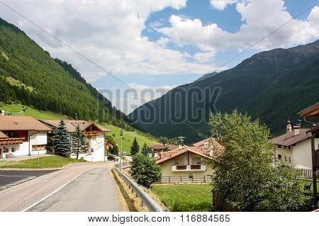 Beautiful Mountainous Village In Alps