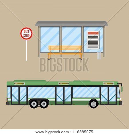 bus stop set