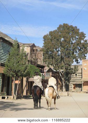 Horse Rider On Film Set