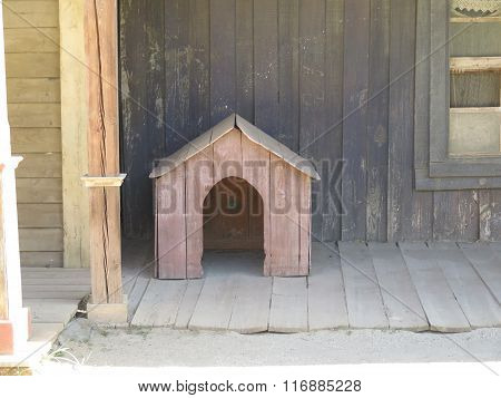 Small Wooden Doghouse