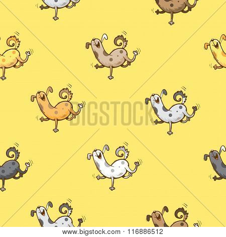 Pattern With Dogs.