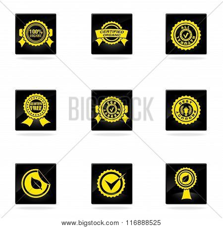 Seals icons set