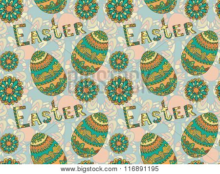 Easter Zentangle Eggs Ethnic Native Abstract Pattern 1