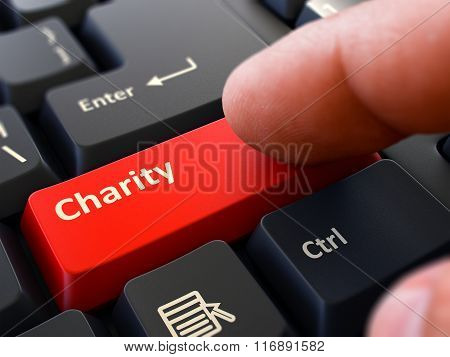 Charity - Clicking Red Keyboard Button.