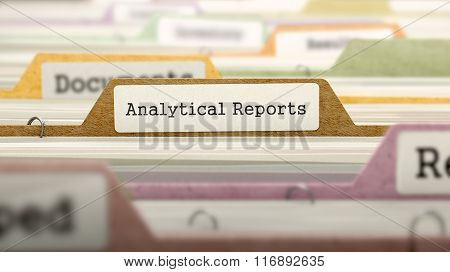 Analytical Reports - Folder Name in Directory.
