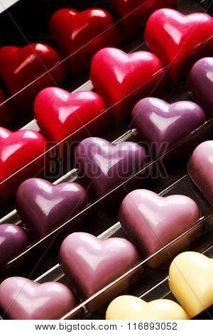 Box of chocolate hearts