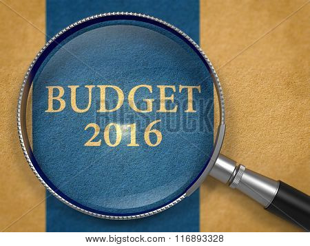 Budget 2016 Concept through Magnifier.