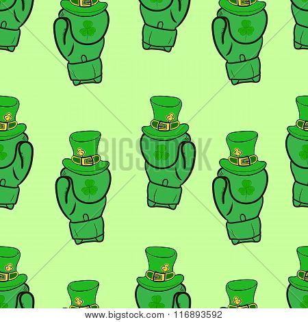 Seamless green boxing gloves