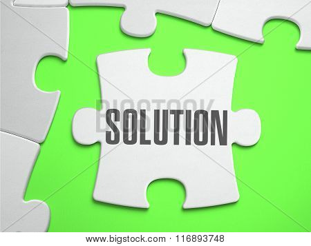 Solution - Jigsaw Puzzle with Missing Pieces.