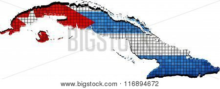 Cuba Map With Flag Inside.eps