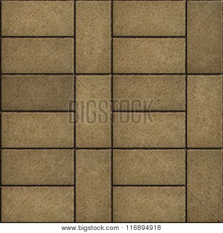 Sand Color Rectangular Paving Slabs.
