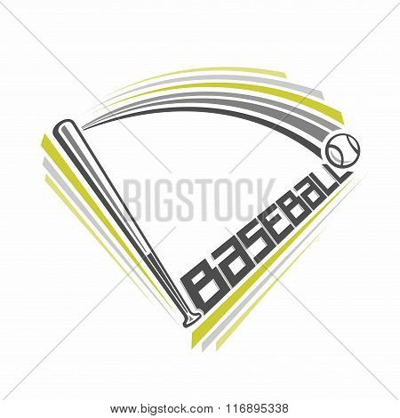 Illustration of a baseball theme