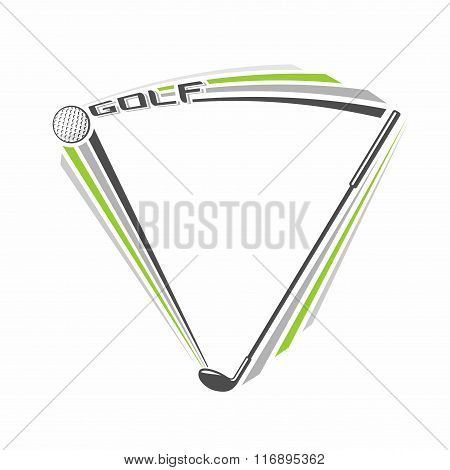Vector illustration on the theme of golf