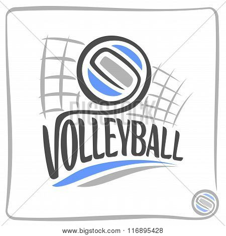 Abstract image on the subject of volleyball