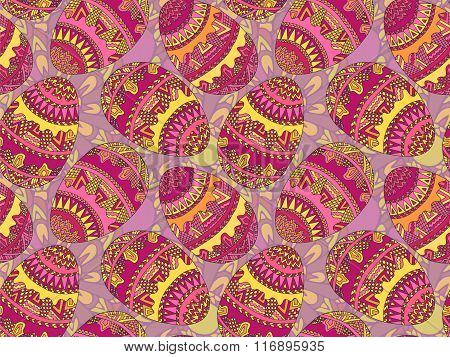 Easter Zentangle Eggs Ethnic Native Abstract Pattern 5