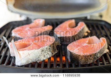 Salmon Steak Bbq