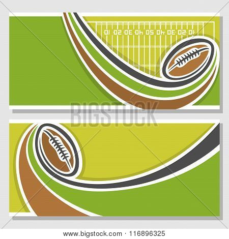 Vector illustrations for a text on the subject of american football