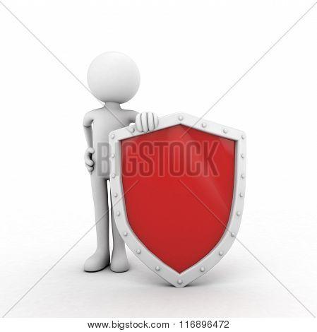 Red Shield Man