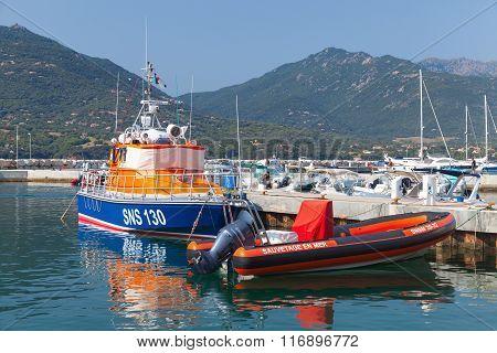 Rescue Boats Moored In Propriano, Corsica