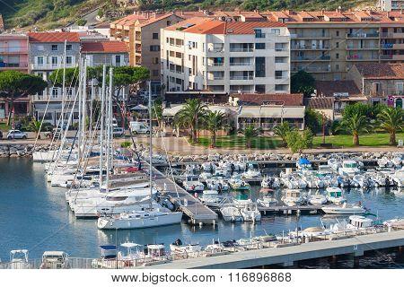 Small Marina Of Propriano Resort Town, Corsica