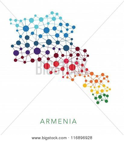 dotted texture Armenia vector background