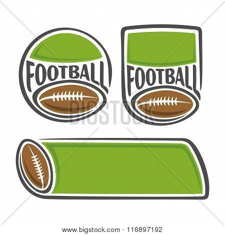Background set of illustrations for the text on the subject of american football