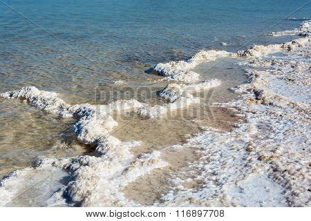 The Salty Shore Of The Lake Baskunchak.