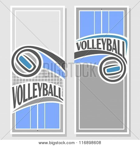 Vector images for text on the theme of volleyball