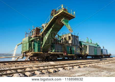 Unique Train For Salt Production.