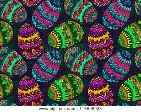 Easter Zentangle Eggs Ethnic Native Abstract Pattern 7