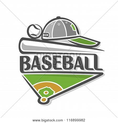 Abstract illustration on the theme of baseball