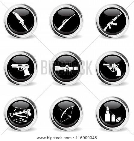 Weapon icon set