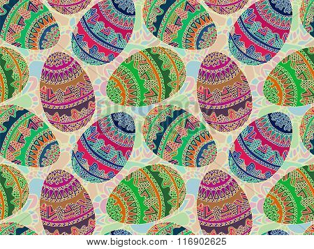 Easter Zentangle Eggs Ethnic Native Abstract Pattern 8