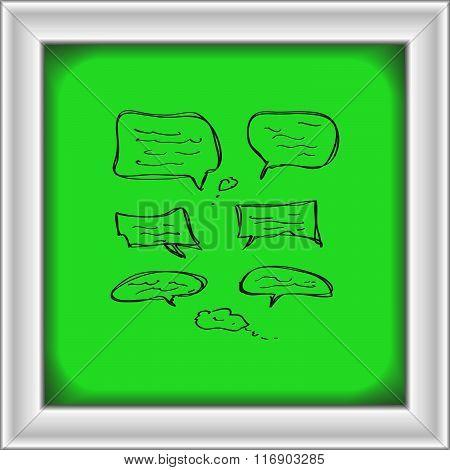 Simple Doodle Of Some Speech Bubbles