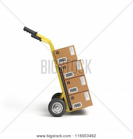 Concept Of Fast Delivery Boxes On Tandem Axle