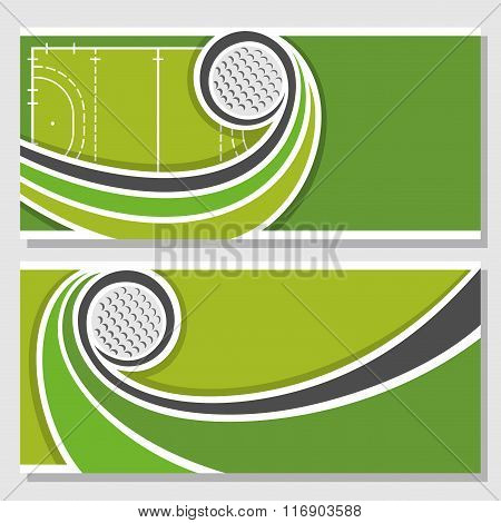 Background illustrations for text on the theme of field hockey
