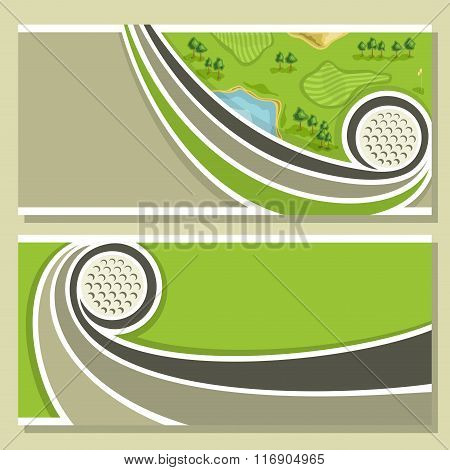 Abstract images for text on the theme of golf