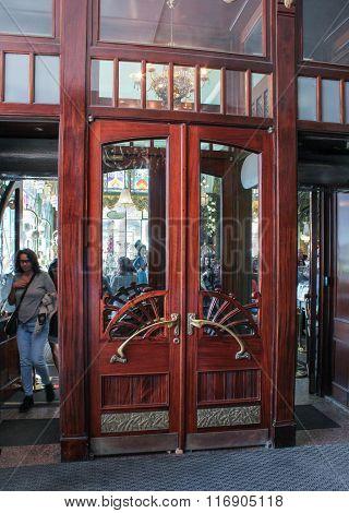 Door To Yeliseyev Grocery Store.