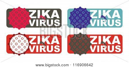 Zika Virus With Alert Label