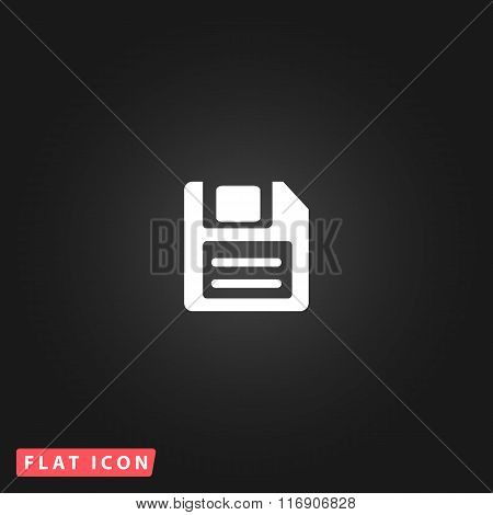 Magnetic floppy disc icon for computer
