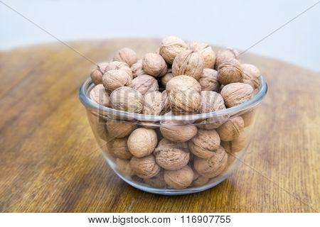 Glass Jar With Wallnuts