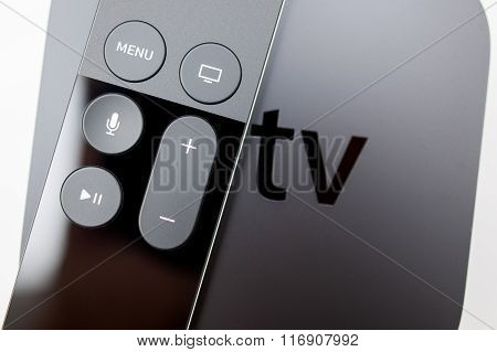 Siri Remote Over New Apple Tv Console