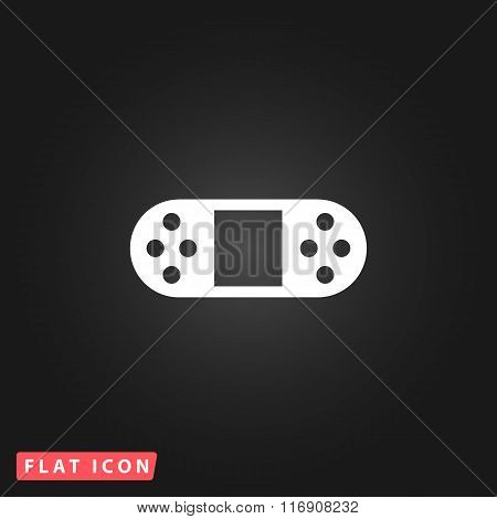 Vector Portable Video Game Console Isolated