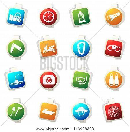 Active recreation icons